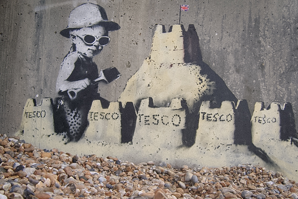 Banksy on the beach in Hastings