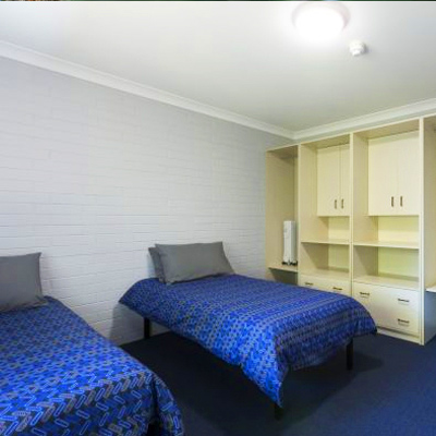 Twin rooms for students